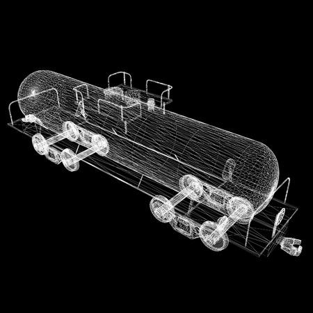 aljibe: Coche modelo cisterna 3D