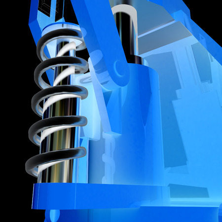 exhaust valve: Abstract engineering assembly Stock Photo