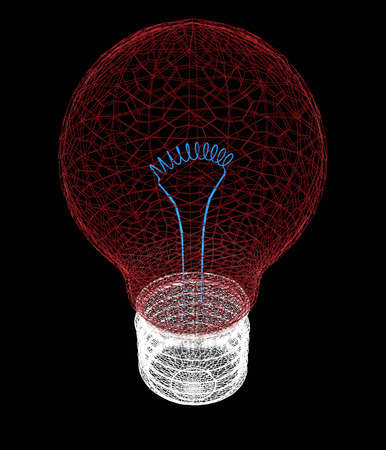 fluorescent lights: 3d bulb icon