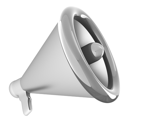 announcement icon: Loudspeaker as announcement icon. Illustration on white