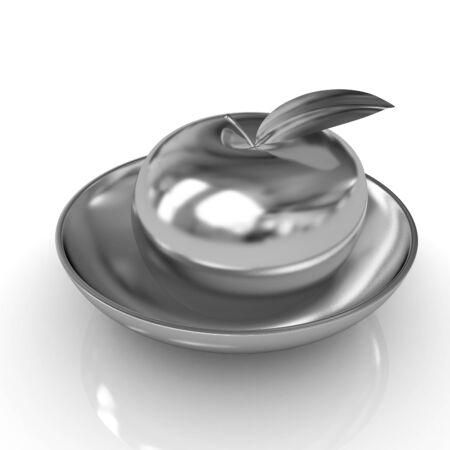 gilt: Gold apple on a plate