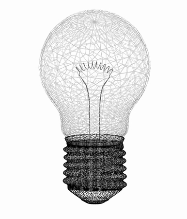 wires: 3d bulb icon
