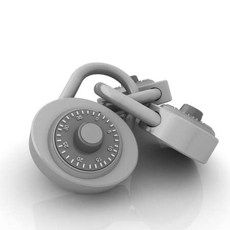 pad lock: pad lock Stock Photo