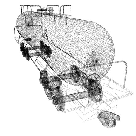 cisterna: Coche modelo cisterna 3D