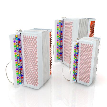 concertina: Musical instruments - bayans Stock Photo