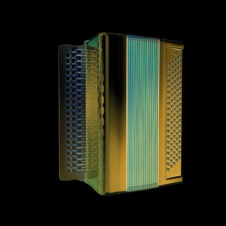 concertina: Musical chrome icon instruments - bayan