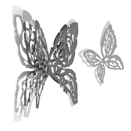 wall decoration: Butterfly interior design