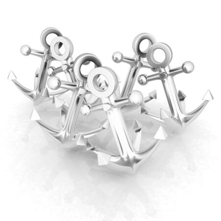 vessel sink: anchors Stock Photo