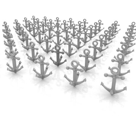 leadership concept: leadership concept with anchors
