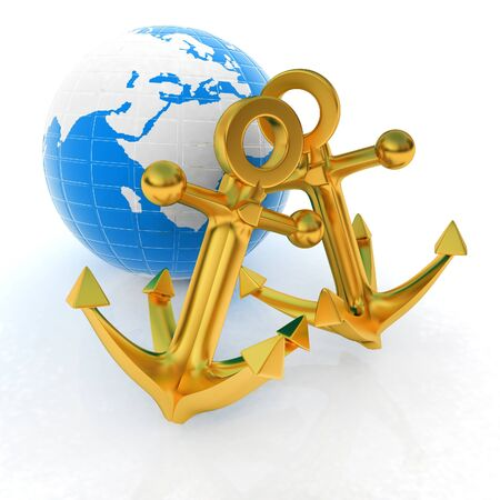 gold earth: Gold anchors and Earth