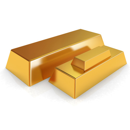and gold: gold bars