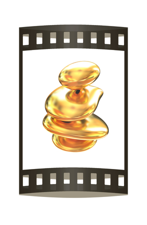 metallic: Gold metallic spa stones Stock Photo