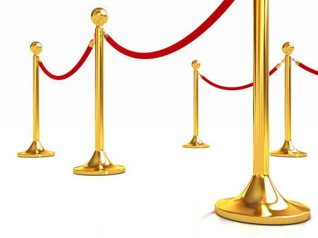 rope way: 3d illustration of path to the success Stock Photo