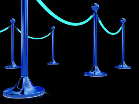 stanchion: 3d illustration of path to the success Stock Photo