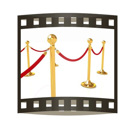 stanchion: 3d illustration of path to the success. The film strip Stock Photo