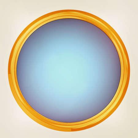 shiny button: Shiny button isolated on white background. 3D illustration. Vintage style. Stock Photo