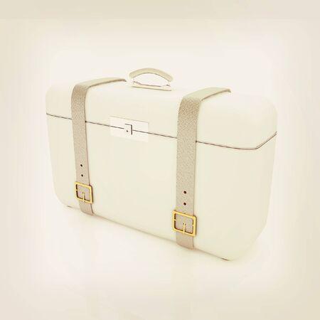 travelers: travelers suitcase . 3D illustration. Vintage style.