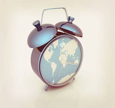 Alarm clocks of world map 3d illustration vintage style stock 60781233 clock of world map 3d illustration vintage style gumiabroncs Image collections