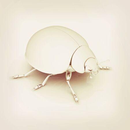 luxo: besouro Metall sobre um fundo branco. Ilustra