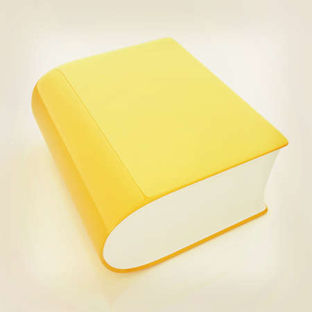 Glossy Book Icon isolated on a white background . 3D illustration. Vintage style. Stock Photo