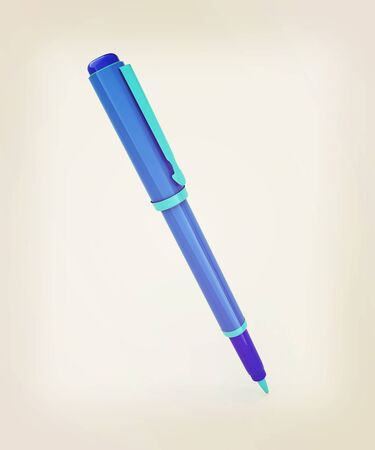 clerical: corporate pen design . 3D illustration. Vintage style.