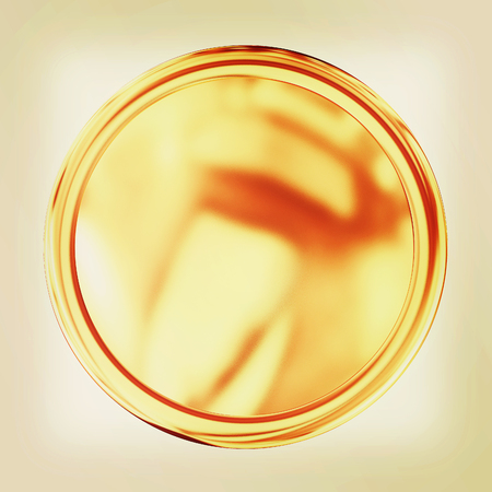 conduct: Golden Web button isolated on white background. 3D illustration. Vintage style.