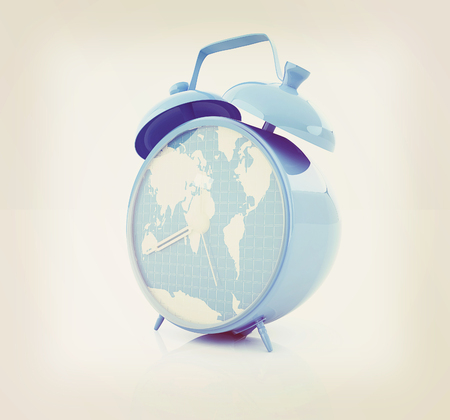 Alarm clocks of world map 3d illustration vintage style stock 60149316 clock of world map 3d illustration vintage style gumiabroncs Image collections