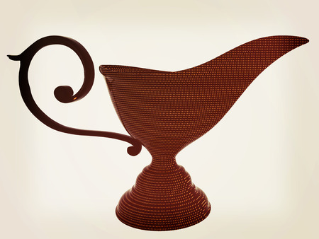 he is a traditional: Vase in the eastern style. 3D illustration. Vintage style. Stock Photo