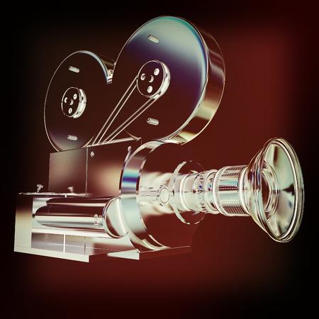 render 3d: Old camera. 3d render. 3D illustration. Vintage style. Stock Photo