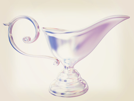Vase in the eastern style. 3D illustration. Vintage style. Stock Photo