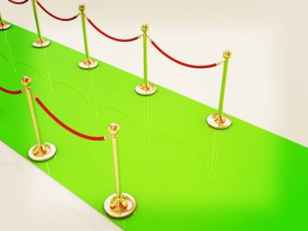 stanchion: 3d illustration of path to the success. 3D illustration. Vintage style.