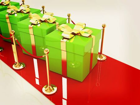 Beautiful Christmas Gifts On New Year\'s Path To The Success... Stock ...