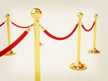 rope way: 3d illustration of path to the success. 3D illustration. Vintage style.