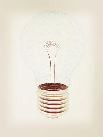 3d  illustration: lamp. 3D illustration. 3D illustration. Vintage style.