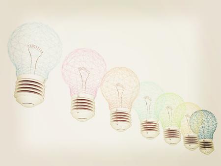 3d  illustration: lamps. 3D illustration. 3D illustration. Vintage style. Stock Photo