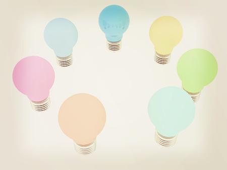lamps. 3D illustration. 3D illustration. Vintage style. Stock Photo