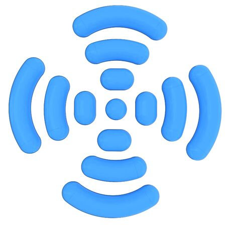 Radio Frequency Identification symbol. 3d illustration Stock Photo
