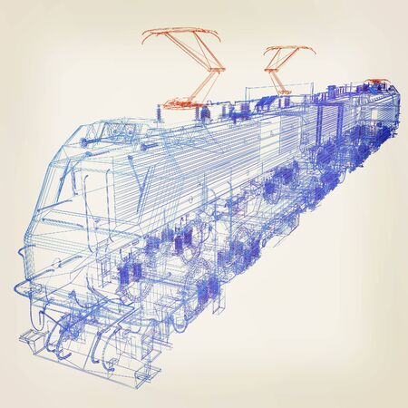 high speed train: train.3D illustration