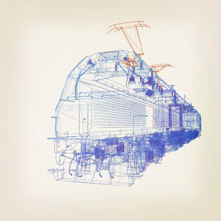 high speed train: train.3D illustration