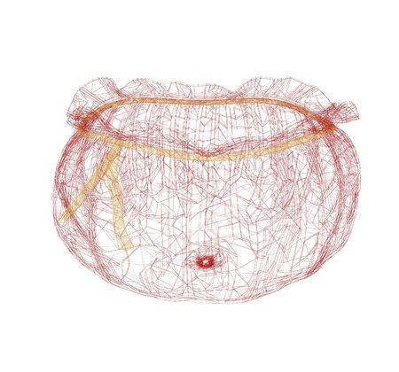 money sack: Bag on a white background. 3D illustration