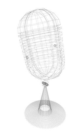 microphone. 3d illustration