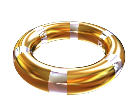 blank pool ring isolated on white background. 3d illustration