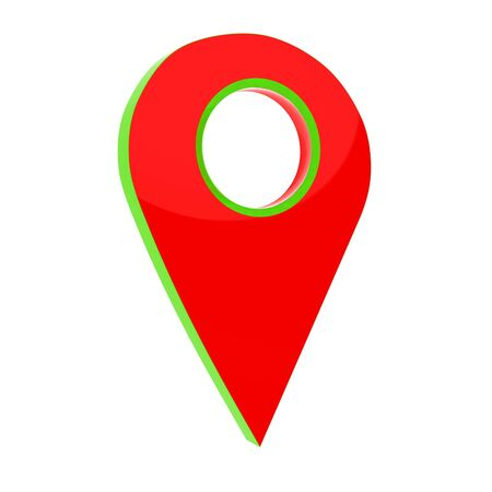 Realistic 3d pointer of map. 3d illustration Stock Photo