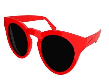 Cool red sunglasses. 3d illustration