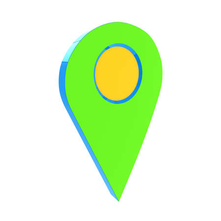 directory: Realistic 3d pointer of map. 3d illustration Stock Photo