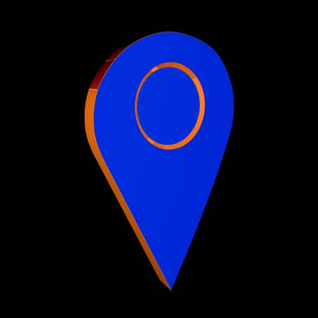 map pin: Realistic 3d pointer of map. 3d illustration Stock Photo
