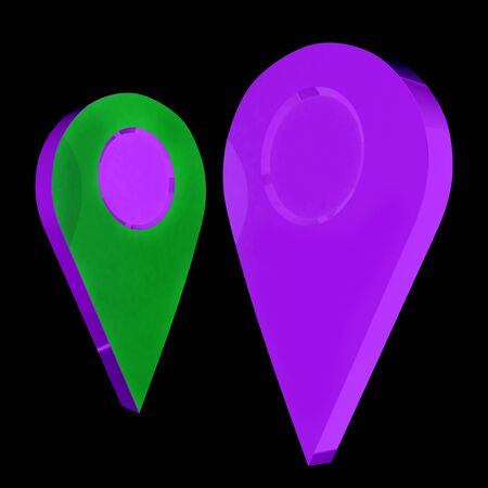 web directories: Realistic 3d pointer of map. 3d illustration Stock Photo