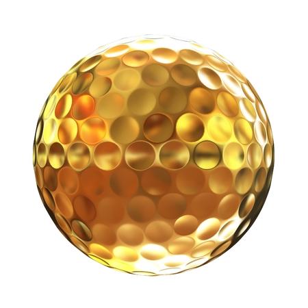 골드에서 golfball의 3d 렌더링