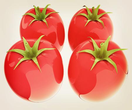 tomato. 3d illustration.