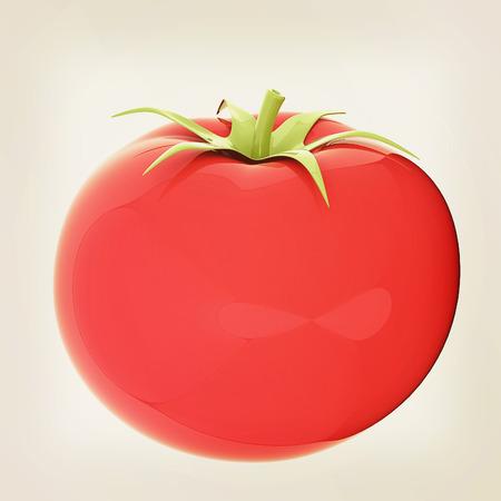 tomato. 3d illustration. Vintage style Stock Photo
